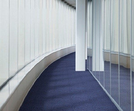 Hallway and windows in office --- Image by © Kate Kunz/Corbis