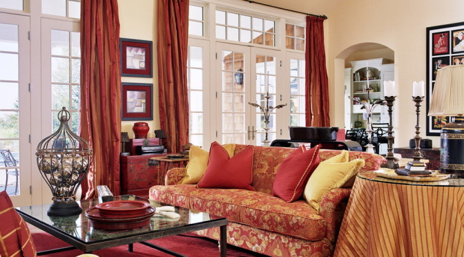 red-paisley-curtains-with-sheer-curtains-and-drapes-living-room-traditional-and-gold-5